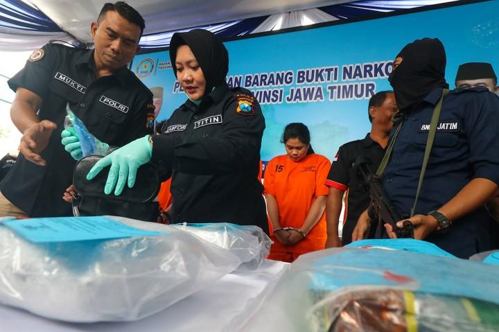 8,15 Kg Sabu Dimusnahkan BNNP Jatim