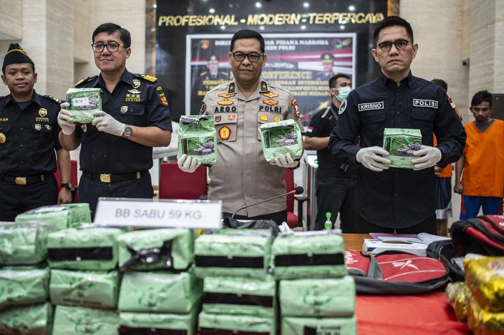 Bareskrim Polri Sita 59 Kg Sabu asal Malaysia