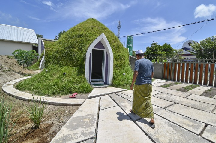 Unik, Musala Ini Berbentuk Rumah Dome