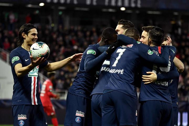 Libas Dijon 6-1, PSG ke Semifinal Piala Prancis