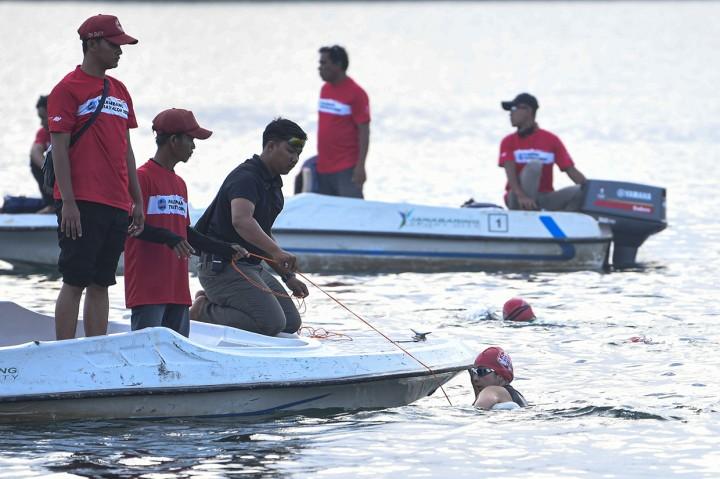 Ratusan Atlet Ramaikan Palembang Triathlon 2020