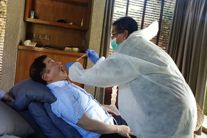 Menteri PPN Suharso Monoarfa Sehat dan Tak Terinfeksi Korona