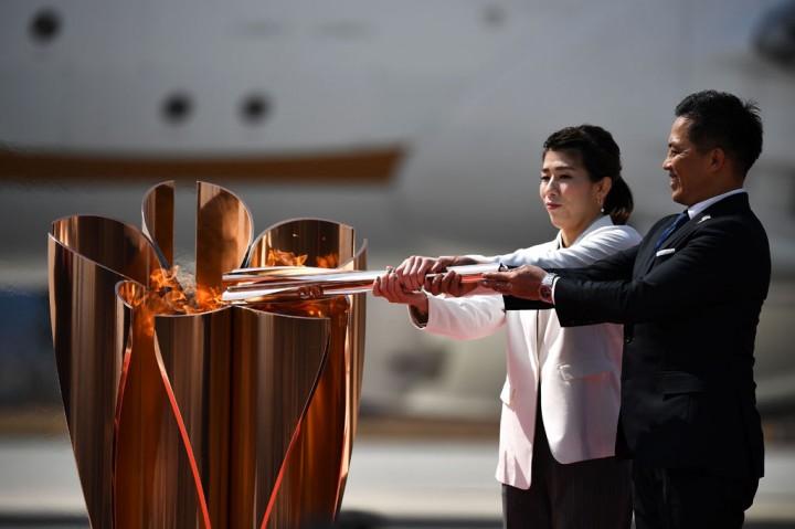Api Olimpiade Tiba di Jepang