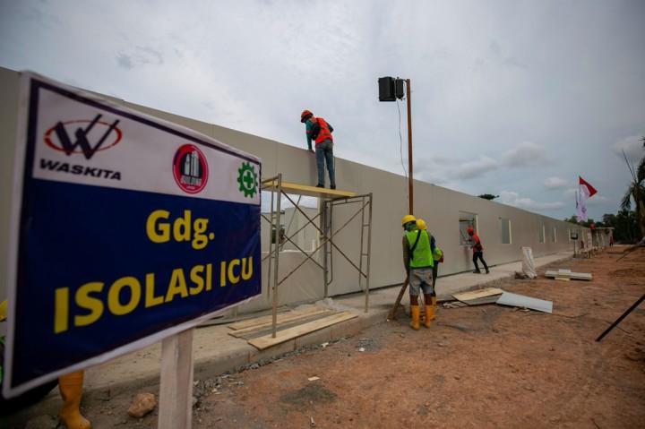 Progres Pembangunan RS Korona di Pulau Galang Capai 40%