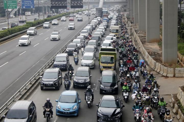 Potret Kemacetan Jakarta Saat PSBB