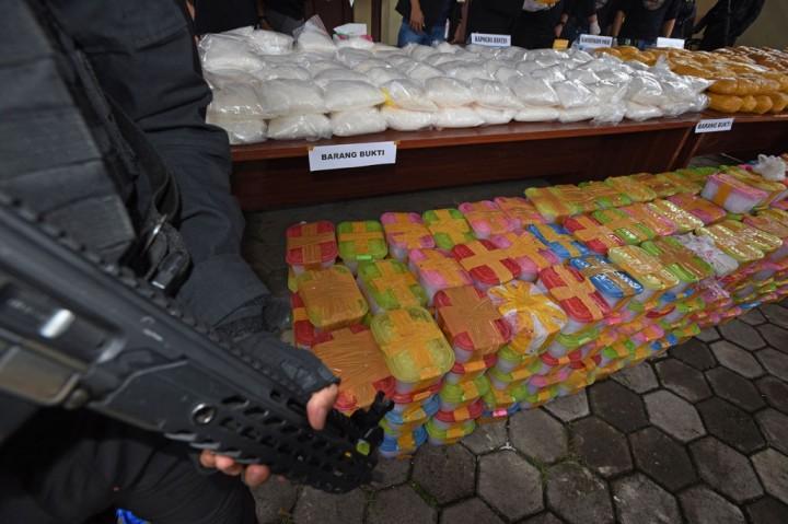 Bareskrim Polri Ungkap Penyelundupan 821 Kg Sabu