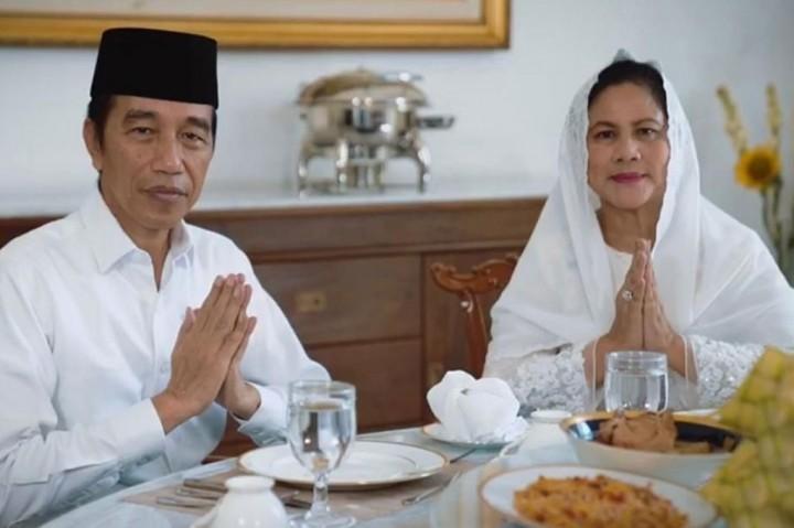 Jokowi dan Ibu Negara Ucapkan Selamat Idulfitri