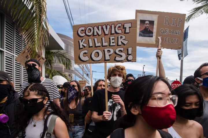 Unjuk Rasa Kasus Kematian George Floyd di AS Meluas