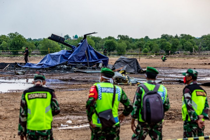 Helikopter Militer Jatuh di Kendal, 4 Prajurit TNI Tewas