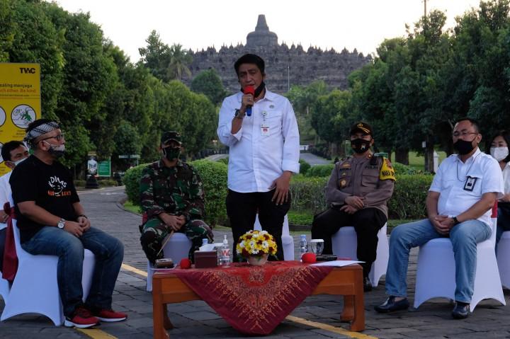 Candi Borobudur Uji Coba Pembukaan Operasional, Pengunjung