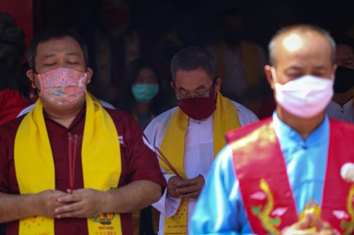 Suasana Perayaan Peh Cun di Tengah Pandemi Covid-19