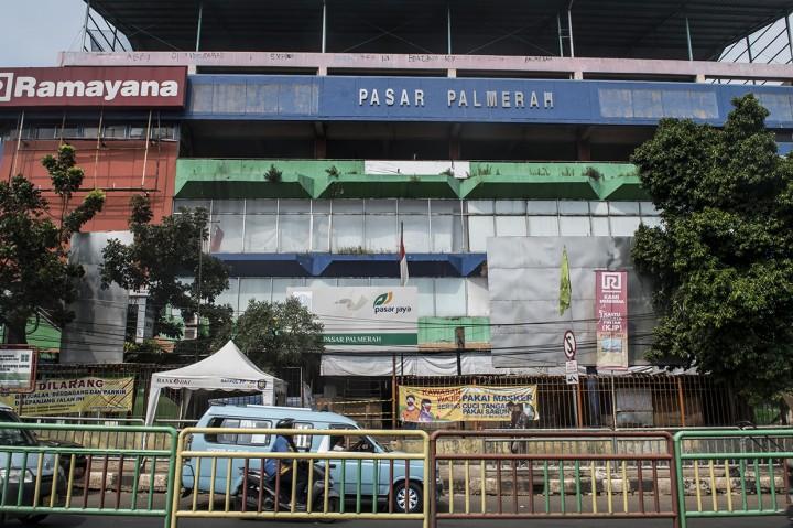 Pasar Palmerah Ditutup Tiga Hari