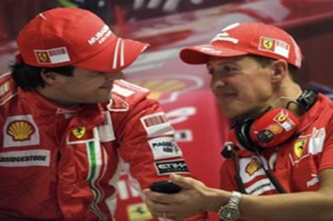 Massa Akan Pakai Helm 'MS' untuk Schumacher