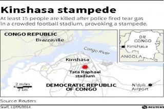 Belasan Warga Kongo Tewas Terimpit di Stadium Sepakbola