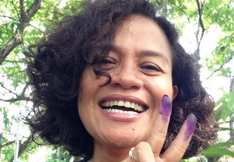 Jokowi Menang Hitung Cepat, Mira Lesmana Bersorak