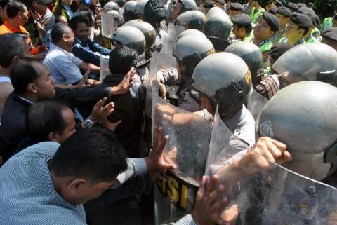 Simulasi Pengamanan, Polisi Tutup Jalan 1 KM dari Gedung KPU