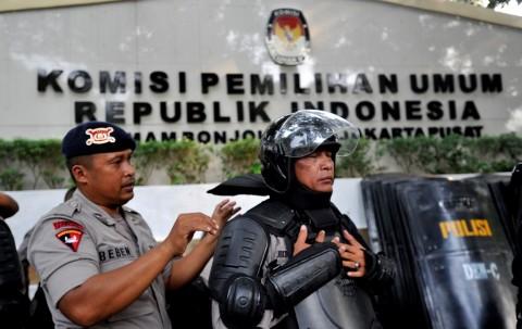 3.421 Personil Polisi Akan Bertahan Hingga KPU Mengetuk Palu