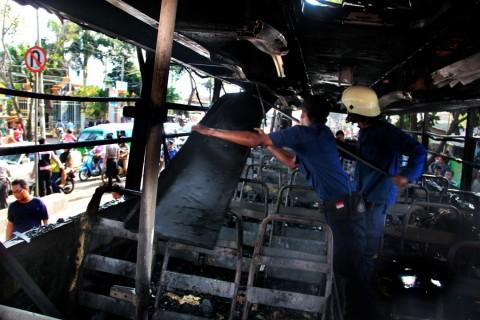 Bus Mudik Terbakar di Nagreg