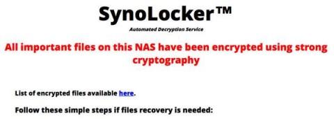 Malware SynoLocker Hantui Pengguna NAS Synology
