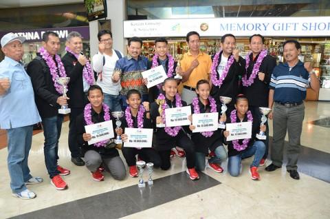 Tim SMP Indonesia Raih Enam Medali Emas Kejuaraan Karate Internasional