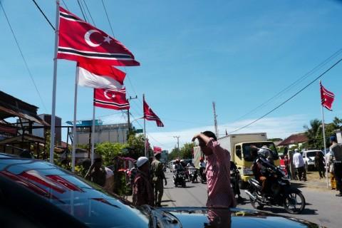 Lima Bendera GAM Berkibar di Aceh