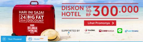 Hari Belanja Online Nasional, Netizen Serbu Tiket Murah Traveloka