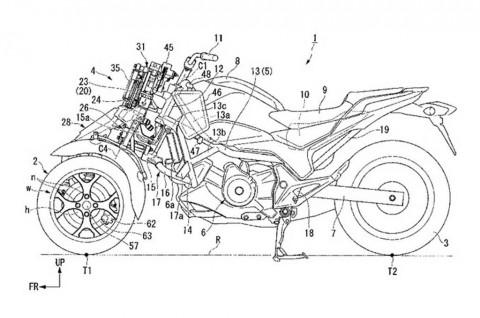 Honda Patenkan Desain Motor Roda Tiga
