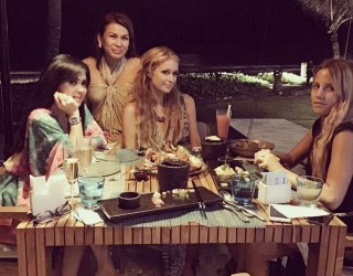 Syahrini Makan Malam dengan Paris Hilton di Bali