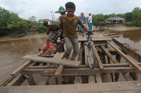 Dua Jembatan di Sukoharjo Putus Diterjang Banjir