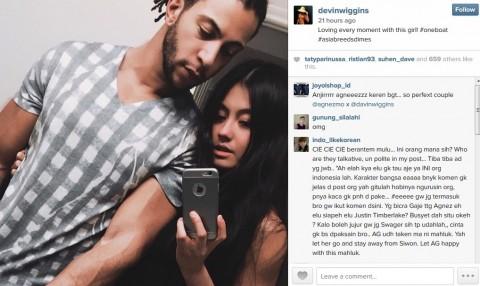 Netizen Riuh Komentari Selfie Mesra Agnez Mo & Devin