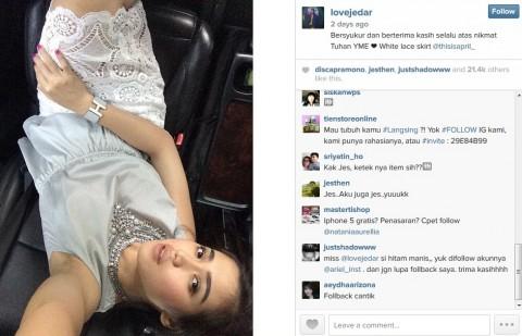 Berpose Pamer Ketiak, Jessica Iskandar Dicemooh Netizen
