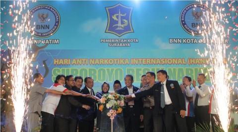 Wali Kota Surabaya Luncurkan Kurikulum Antinarkoba
