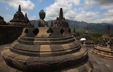 Candi Borobudur, Magelang, Jawa Tengah. (foto: MI/Ramdani).