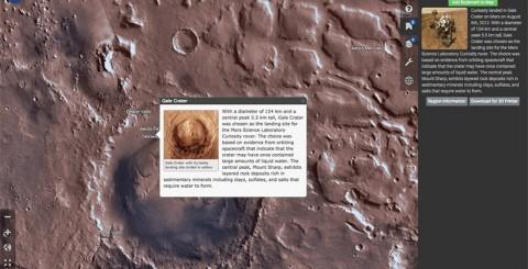 Jelajahi Planet Mars Melalui Situs Mars Trek