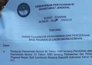 Cegah Poligami, Kemhan Edarkan Surat Edaran Persetujuan Poligami