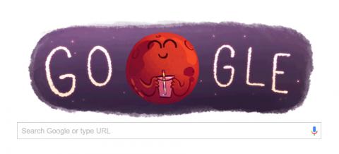 Google Doodle Rayakan Penemuan Air di Mars