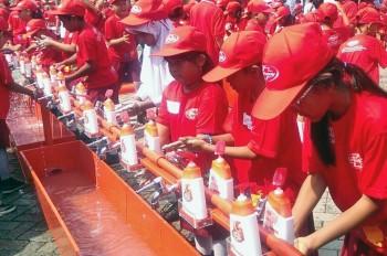 Aksi Cuci Tangan di Palu untuk Cegah Diare