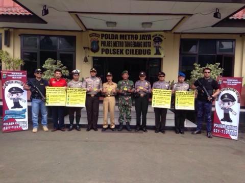 Tingkatkan Keamanan, Polsek Ciledug Luncurkan Kartu Sohib Tiga Pilar Kamtibmas