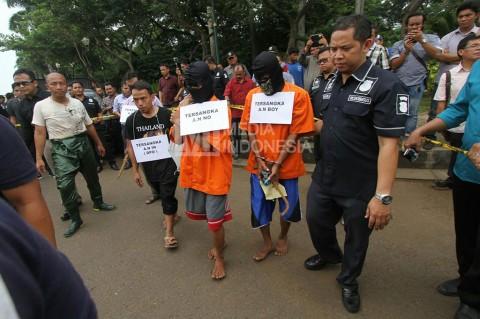 Polisi Gelar Rekonstruksi Pencurian Kabel di Gorong-Gorong