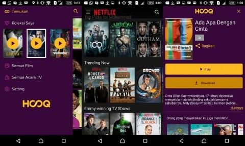 Hooq Masuk Indonesia, Bedanya dengan Netflix?