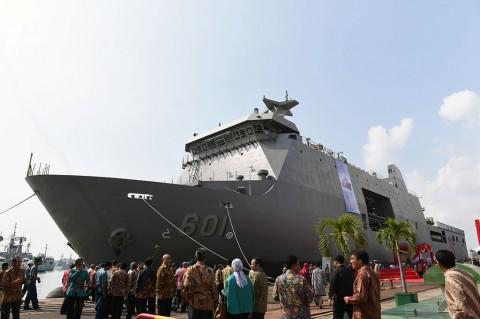 Wapres Lepas Ekspor Perdana Kapal Perang Indonesia