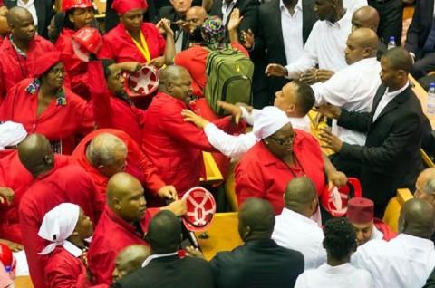 Puluhan Anggota Parlemen Afsel Berkelahi di Ruang Sidang