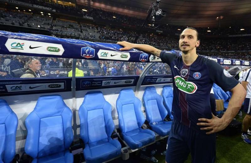 Striker Paris Saint Germain Zlatan Ibrahimovic.. (AFP PHOTO / FRANCK FIFE)