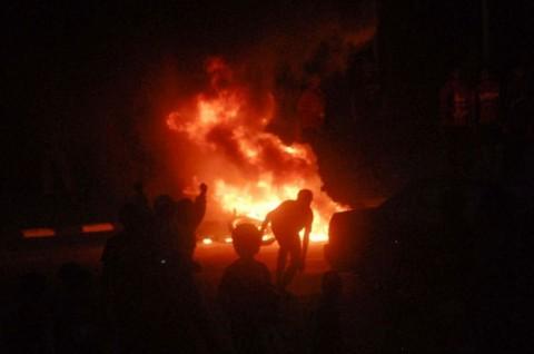 Sriwijaya Vs Persija, Suporter Bentrok dengan Polisi