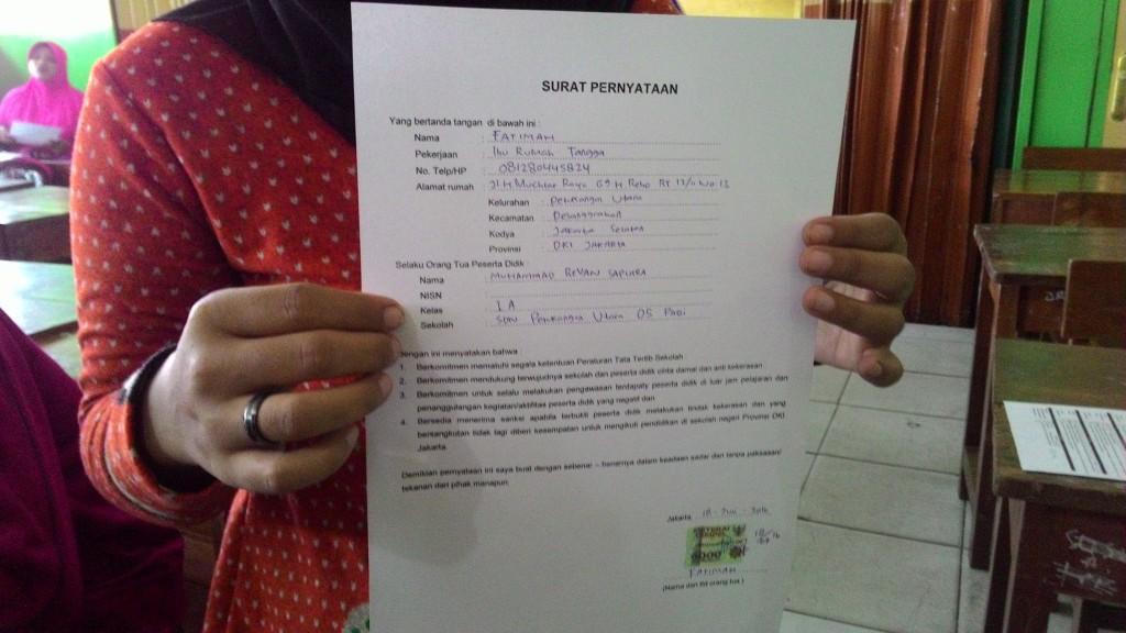 Orangtua Wajib Teken Surat Pernyataan Patuh Aturan Sekolah