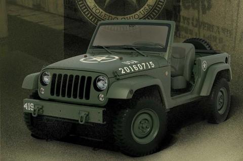 Wrangler 75 Salute Concept, Tampilan Khas Militer