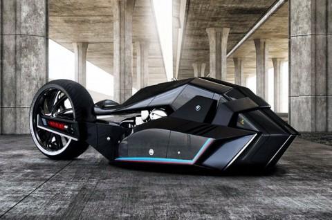Tampang BMW Titan Konsep Bakal Motor Batman