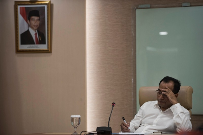 Menteri Perhubungan Budi Karya Sumadi. ANT/Sigid Kurniawan.