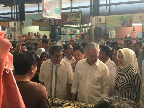 Mendag Sidak Harga Daging Sapi dan Ayam di Pasar BSD