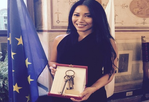 Anggun Mendapat Penghargaan Bergengsi dari Italia